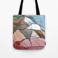 rocky Tote Bags featuring Rocky by Tonya Doughty