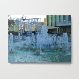 New Orleans Water Fountain Metal Print