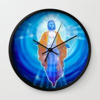 jesus Wall Clocks featuring Jesus by Walter Zettl