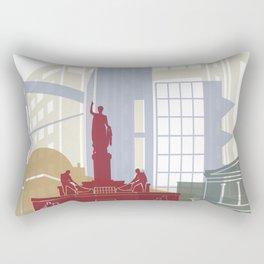 Nicosia skyline poster Rectangular Pillow