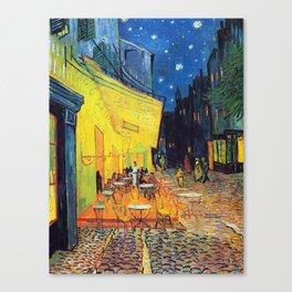 Vincent Van Gogh - Café Terrace at Night (new color editing) Canvas Print