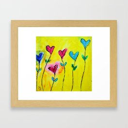 Amor de colores Framed Art Print
