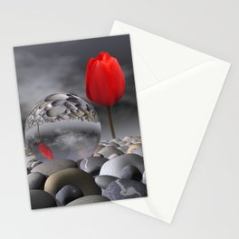 tulip, pebbles and breaking light Stationery Cards