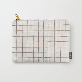 Imperfect Grid in Ivory and Clay Tasche