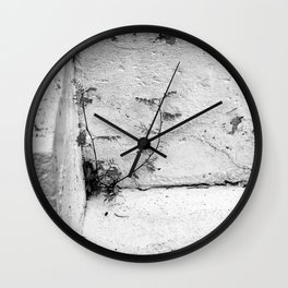 Weeds on steps Wall Clock