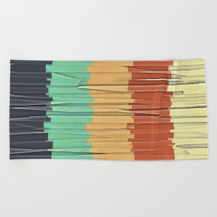 Shreds of Color Beach Towel