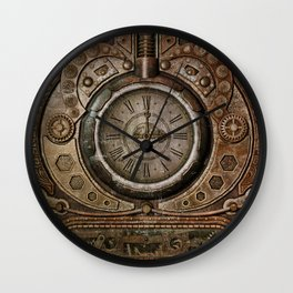 Brown Grunge Vintage Steampunk Clock Wall Clock