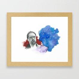 Blau & Du Framed Art Print