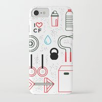 crossfit iPhone & iPod Cases featuring CrossFit Love by Golden Heart
