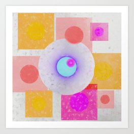 Multicolored abstract no. 67 Art Print