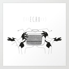 Echo tv Art Print