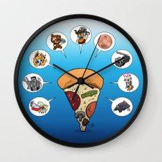 Slicey Talk Wall Clock
