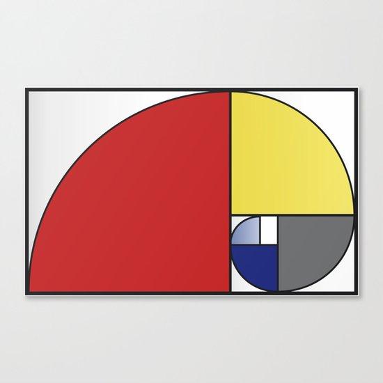Mondrian vs Fibonacci Canvas Print