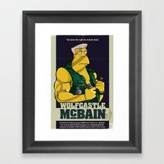 McBain Framed Art Print