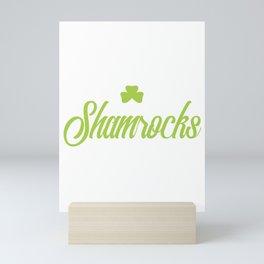 Cute I Love Her Shamrocks St. Patrick's Day Mini Art Print