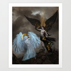 Astrape and Bronte Art Print