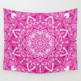 Pink Madala Pattern Wall Tapestry
