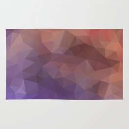Triangles design in purple and brown colors Rug