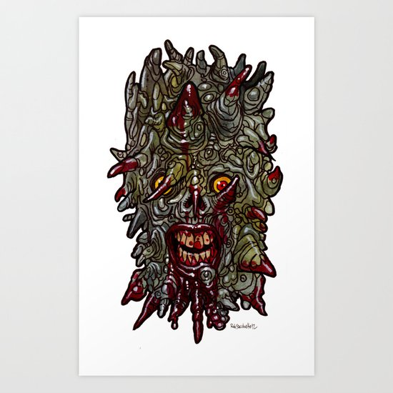 Heads of the Living Dead  Zombies: Scappy Zombie Art Print