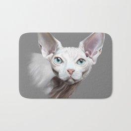 Sphynx cat Bath Mat