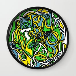 Beatbox on Flames Wall Clock