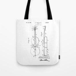 patent art Brown et al Violin 1930 Tote Bag