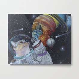 Cat in Space Metal Print