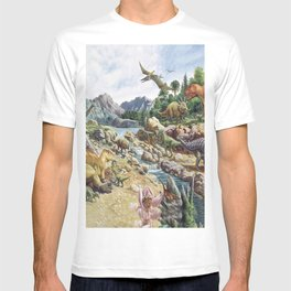 Jurassic dinosaurs in the river T-shirt