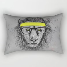 hipster lion Rectangular Pillow