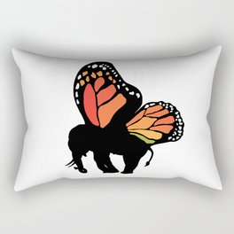 Elephant with wings Rectangular Pillow