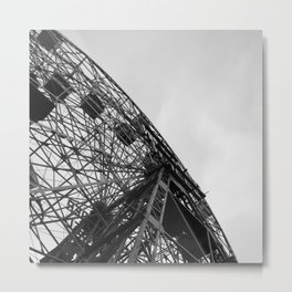Wonder Wheel Carnival Boardwalk Coney Island Metal Print