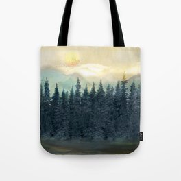 Forest Under the Sunset II Tote Bag