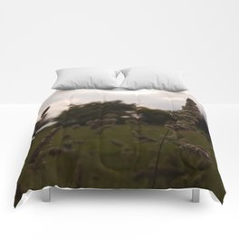 Sunset over the Wild Grass Comforters