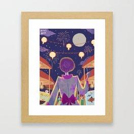 Japanese Festival Framed Art Print