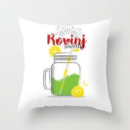 Fresh fruity drink in Rovinj, Croatia Throw Pillow