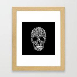 Inverse Skull Framed Art Print