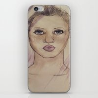 kate moss iPhone & iPod Skins featuring Kate Moss by Jade Lenehan