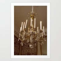 chandelier Art Prints featuring Chandelier by Pati Designs