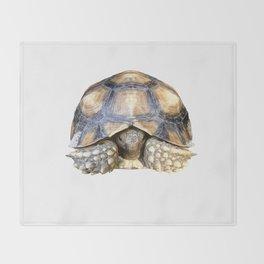 Sulcata Tortoise Throw Blanket