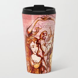 Much Ado About Nothing - Masquerade - Shakespeare Folio Illustration Travel Mug