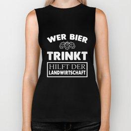 wer bier trinkt dutch son t-shirts Biker Tank