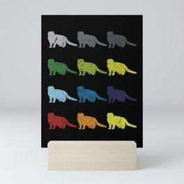 Neon Pop Art Retro Scottish Fold Cat Pet Gift Mini Art Print