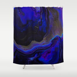 Dark Purple Blue Galaxy - Midnight Shades Shower Curtain