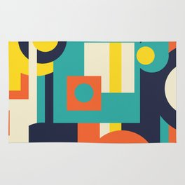 Funky Geometry (Modern Vibrant Color Palette) Rug