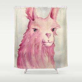 Pink Llama Shower Curtain