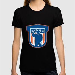 Miilitary Serviceman Salute Side Crest T-shirt