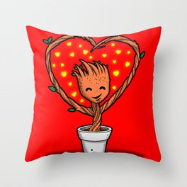 Potted Valentine Guardian Throw Pillow