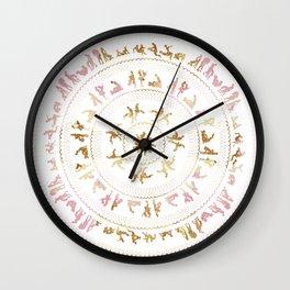Kama Sutra Mandala Pink and Gold Wall Clock