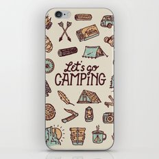 Lets Go Camping iPhone & iPod Skin