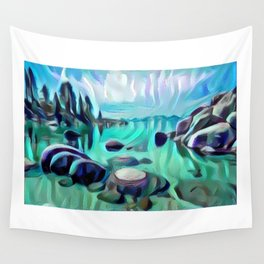 Sand Harbor Wall Tapestry